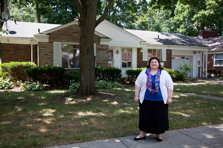 Marcie Kansou At Her Home In Rosedale Park Purchased With The Assistance Of Detroit Mortgage