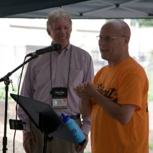 Paul Weech, President and CEO of NeighborWorks America, speaks to the volunteers.